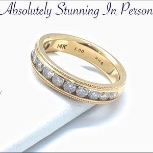 14K Gorgeous 1 ctw Diamond Band Ring